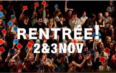 Week-end d'ouverture: 2&3 novembre !