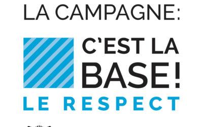 L'AVLI participe à la campagne «Le respect, c'est la base»!